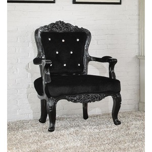 59131 BLACK FRAME/BLACK PU CHAIR