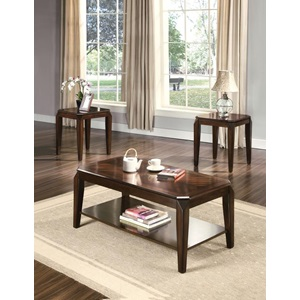 80655 3PC PK COFFEE/END TABLE SET