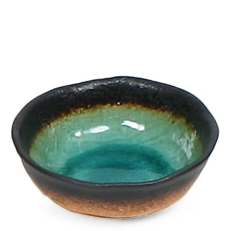 "Kosui Green 5"" Shallow Bowl"