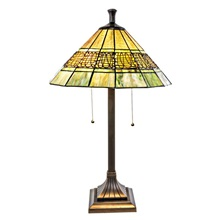 "26""H Mission Style Filigree Lamp"
