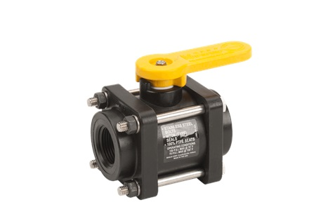 "1"" x 1"" Banjo Full Port Ball Valve - 4 Bolt"