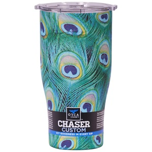 Peacock/Clear 27oz Chaser