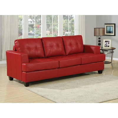 15063 RED BND L. SOFA W/Q.SLEEPER