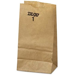 1# GROCERY BAG, 3-1/2 X 2-3/8 X 6-7/8, DURO