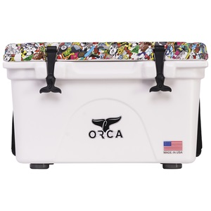 Sticker Bomb Lid White 26 Quart