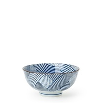 "Aizome Shima 4.5"" Rice Bowl"