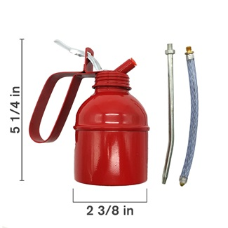 Red Oil Can, Pump Style, 200ml