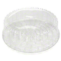"10.75 X 3.25 10"" CAKE CONTAINER WITH DOME LID, 1-2 LAYER CAKES, 55/CS"