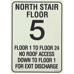 Custom Stair ID Sign