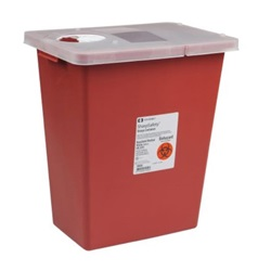 8 Gallon Red Container - Locking Hinged Lid