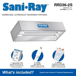 Sani•Ray RRD36-2S Included Accessories