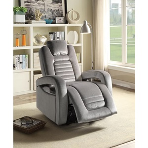 59581 GRAY POWER RECLINER