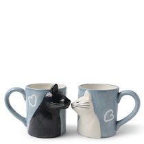 Kissing Cats Mug Set
