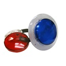 "LIGHT PART: 3-1/2"" WALL FITTING WITH LENSES (RED/BLUE)"