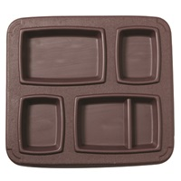 Cook's Brown 5 Compartment Gator Trays