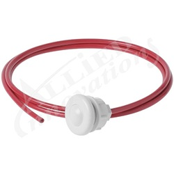 AIR BUTTON REPLACEMENT KIT: WHITE BUTTON WITH TUBING