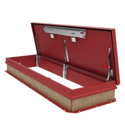 Red 30 x 96 Personnel Roof Hatch, Steel