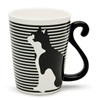 Cat Tail Stripes 9 Oz. Mug - Side
