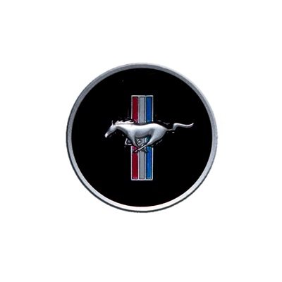 1968 Mustang Horn Panel Emblem with Classic Mustang Tri-Bar Logo