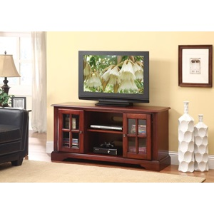 91048 CHERRY FINISH TV STAND