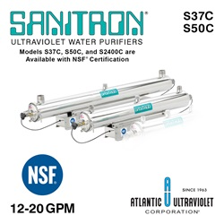 SANITRON® UV Water Purifiers 3-40 GPM (Single Chamber)