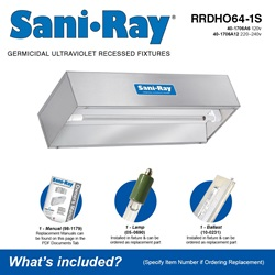 Sani•Ray RRDHO64-1S Included Accessories