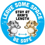 BeSafe Messaging Education Floor Decals
