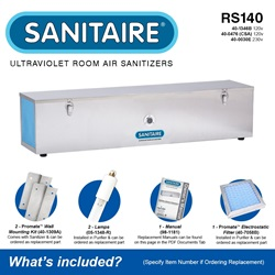 Sanitaire Model RS140 Included Accessories