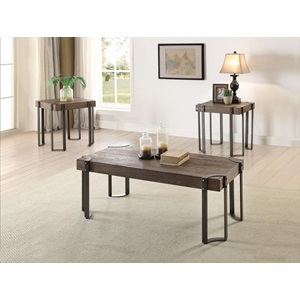 84570 3PC PACK COFFEE/END TABLE SET