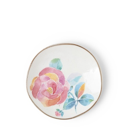 Floral Mini Plate Pink Rose