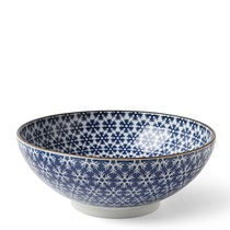 "Blue & White Snowflake 8.25"" Bowl"