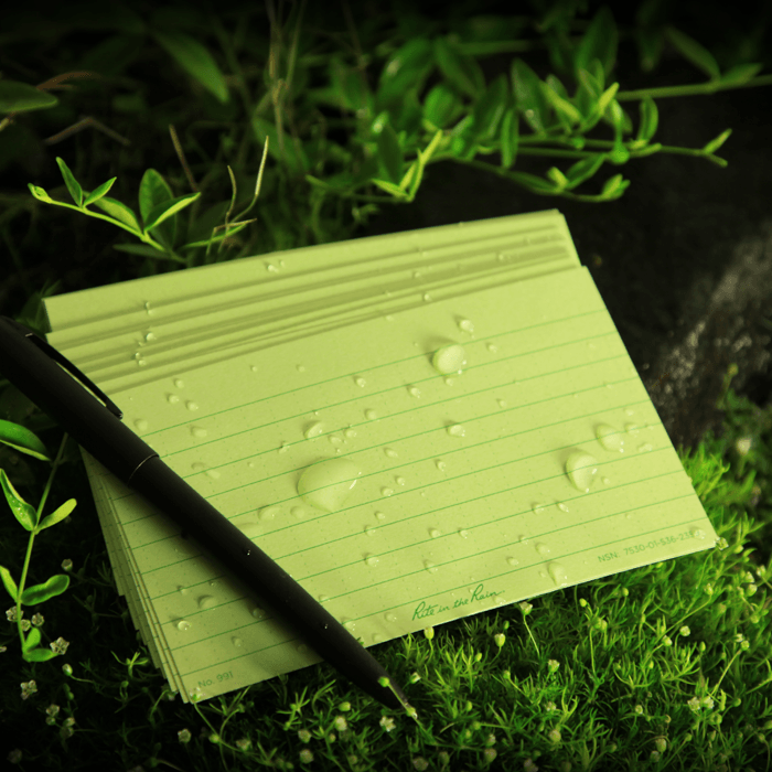 """No. 991 Index Cards Green 3"""" X 5"""""""
