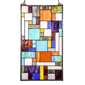 "23"" H Tiffany Style Mod Collage Panel"