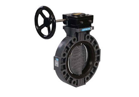 "4"" PVC Butterfly Valve with Viton Seals"