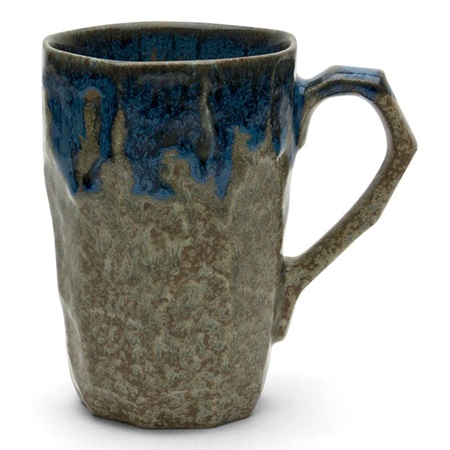 Boulder Tall Mug - Brown & Blue