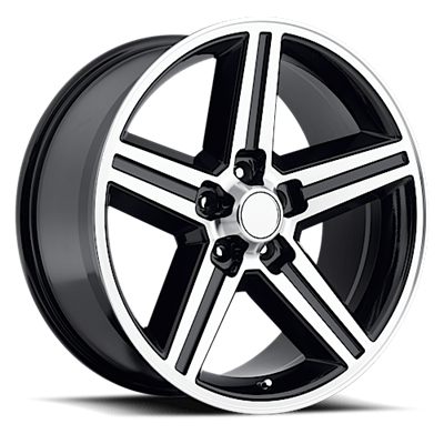 OE Replica 652 Series IROC 20x9 5x127 - Machined/Black