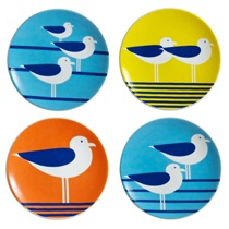 "SEAGULLS 3.5"" MINI PLATE SET"