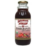 Pomegranate Cranberry Juice, Organic (Lakewood) - 12.5oz (Case of 12) - Clearance