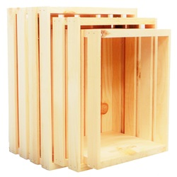3 Pc. Nested Wood Crates (Large, Regular & Medium)