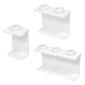 32oz Oblong Tamper-Resistant Dispenser Brackets, White