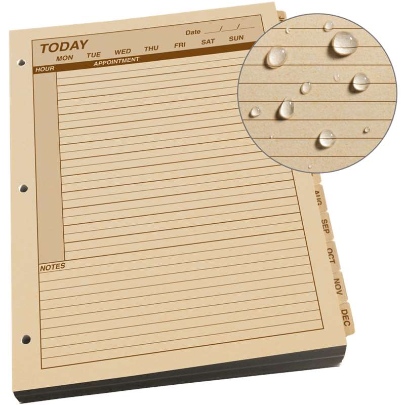 Large Daily Planner Refill