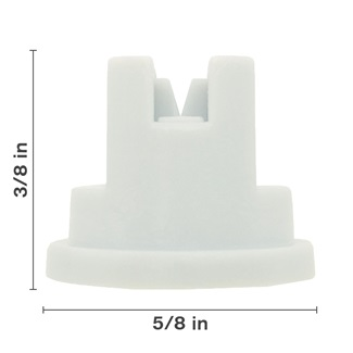 Polyacetal White 80° Nozzle Spacing