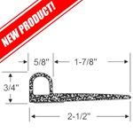 "2-1/2"" Peel-N-Stick ""P"" Profile Wiper Seal"