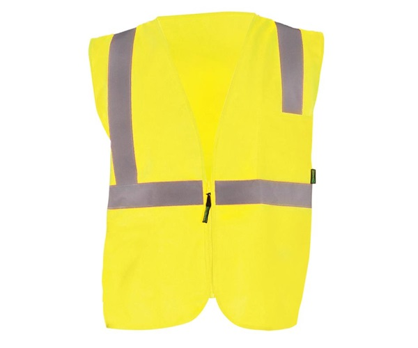 High Visibility Value Solid Standard Zipper Safety Vest