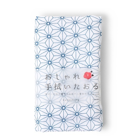 Towel Blue Asanoha