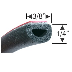 Peel-N-Stick Small Hollow Half Round - 15ft