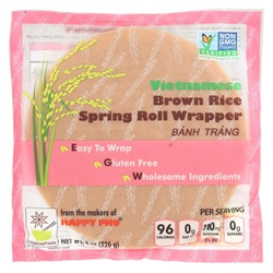 WRAPPERS SPRING ROLL BROWN RICE