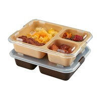 Cambro 853FCP167 Tray-On-Tray Meal Delivery 3-Compartment