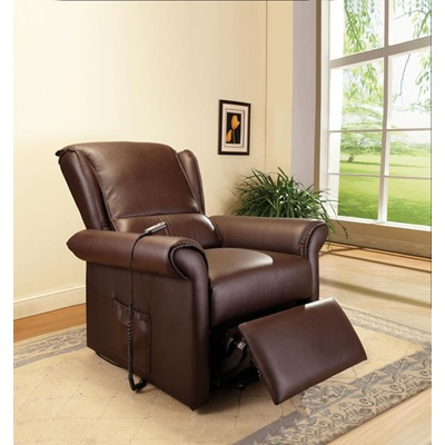 59169 D-BROWN PU RECLINER W/LIFT