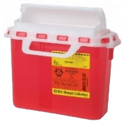 2 Gallon Red Container - Locking Horizontal Lid